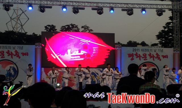 Taekwondo Day Celebrated in South Korea  in 2011.
