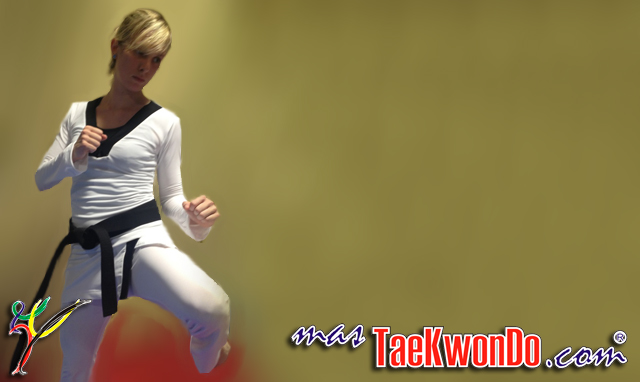 Female Taekwondo uniform could be redesigned