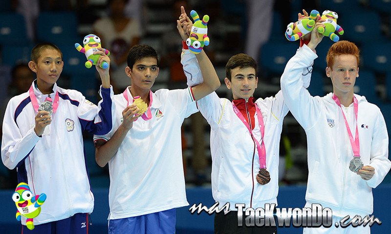 Men -48kg of taekwondo at the Nanjing 2014 Youth  Olympic Game