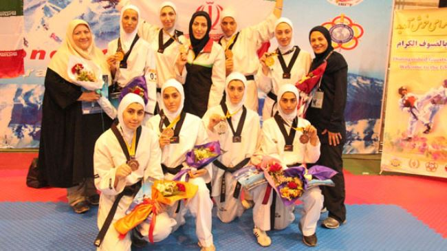 Iranian female team military championships