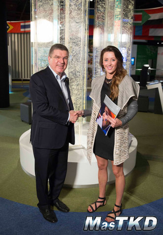 Jade-Jones-and-IOC-President-Thomas-Bach,-credit-IOC_