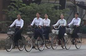 cambodia girsl in bikes