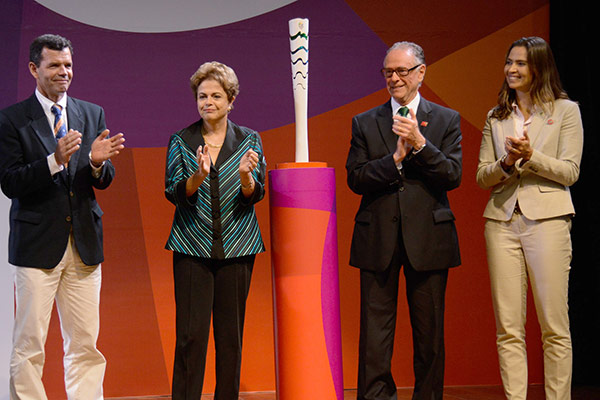 Rio 2016 torch official presentation
