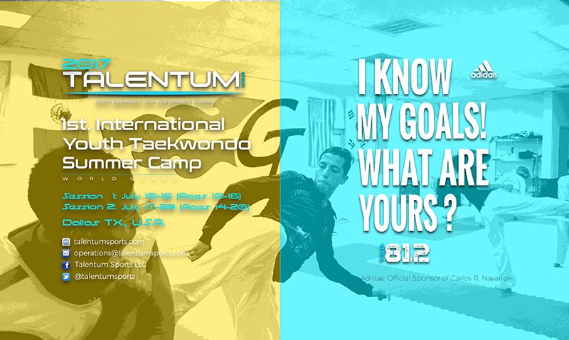 Taekwondo High Performance Training and Fun: The TALENTUM Sports Proposal for this summer 2017