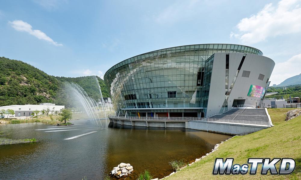 T1 Arena in Taekowndowon, Muju, Korea where the WTF World Taekwondo Championships are to be held on June 24-30