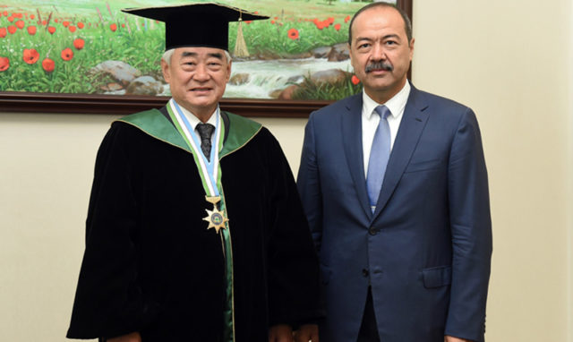 Uzbek President Awarded Honorary WT Black Belt World Taekwondo Head Granted Honorary Doctorate, Honorary Citizenship of Tashkent