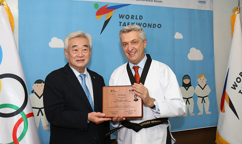 UN High Commissioner for Refugees Awarded Taekwondo Black Belt