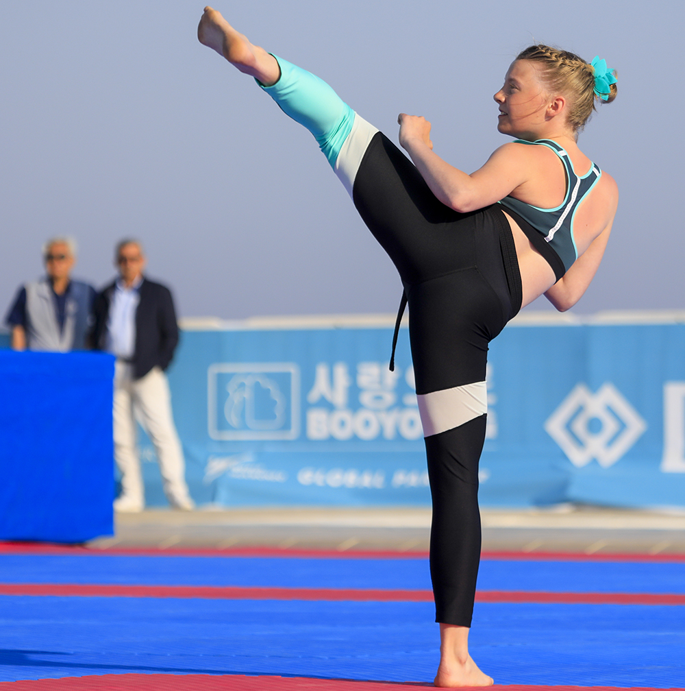 The fourth and final day of the Rhodes 2018 World Taekwondo Beach Championships was concluded in total success