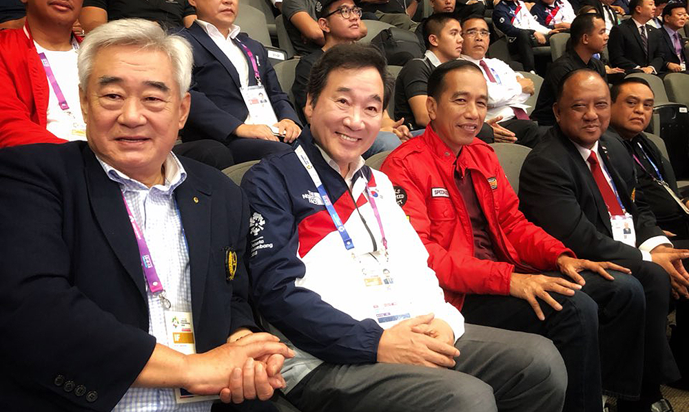 Indonesian President Visits Taekwondo venue at the 2018 Asian Games
