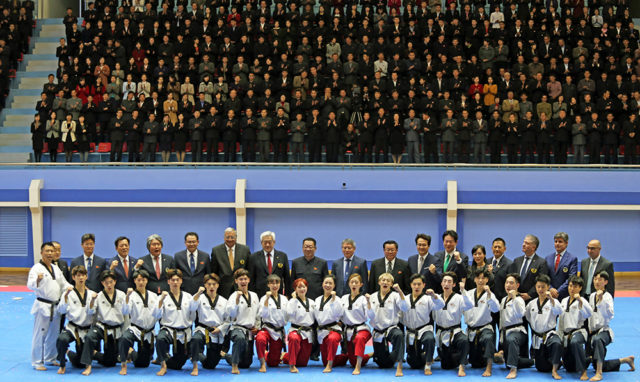 WT demonstration team wows Pyongyang Taekwondo fans