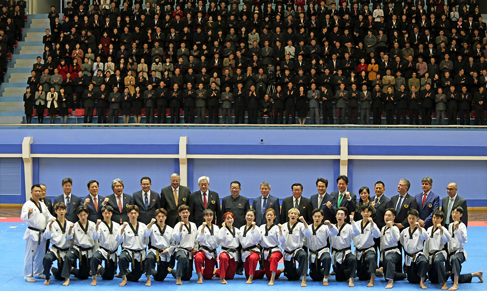 WT demonstration team wows Pyongyang Taekwondo fans