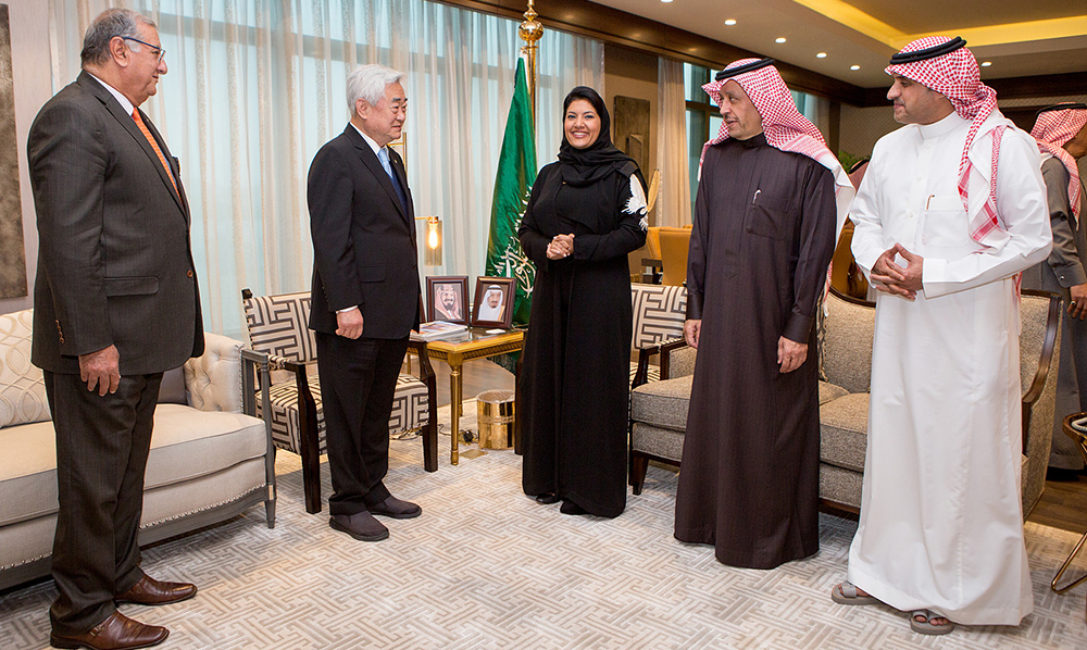 Dr. Choue visits Saudi Arabia ahead of 1st Islamic Women's Open Championships