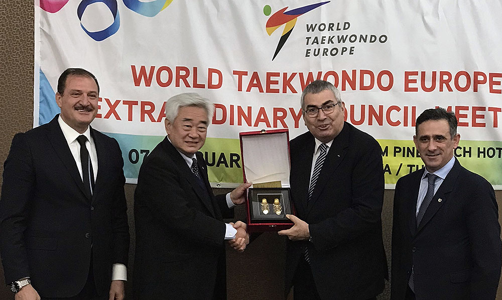 Dr. Choue joins WTE Extraordinary Council Meeting