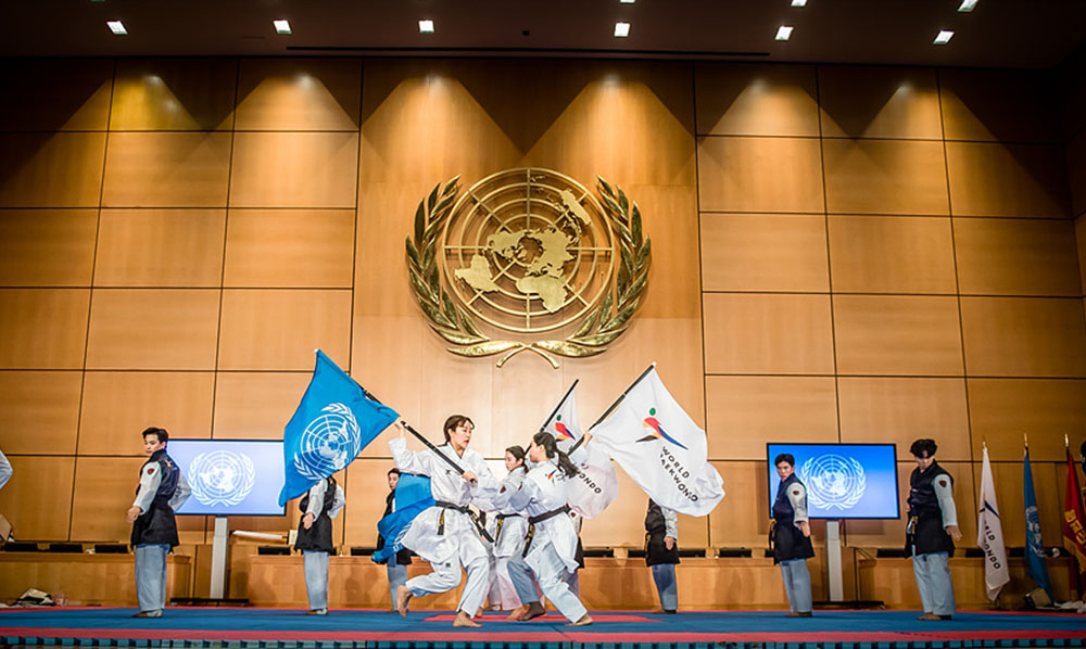 WT and ITF promote peace at United Nations Office in Geneva