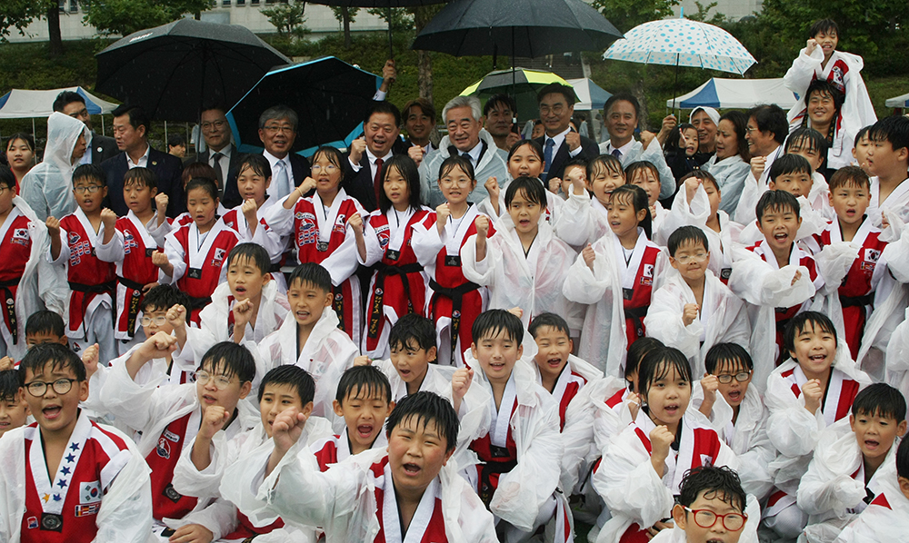 Taekwondo demonstration of the GCS Global Taekwondo Peace Corps Korea