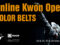 Online Kwon Open Tournament Color Belts
